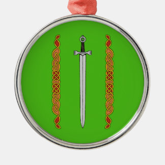 Irish Sword and Knotwork Ornament