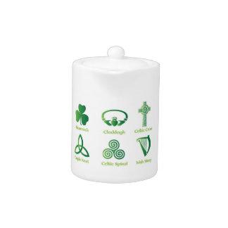 Irish symbol teapot, Celtic, Irish Heritage