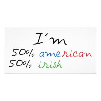 Irish t-shirt personalized photo card