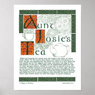 Irish Tea Recipe Celtic Knotwork Prints Poster