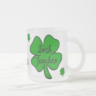 Irish Teacher Frosted Glass Coffee Mug