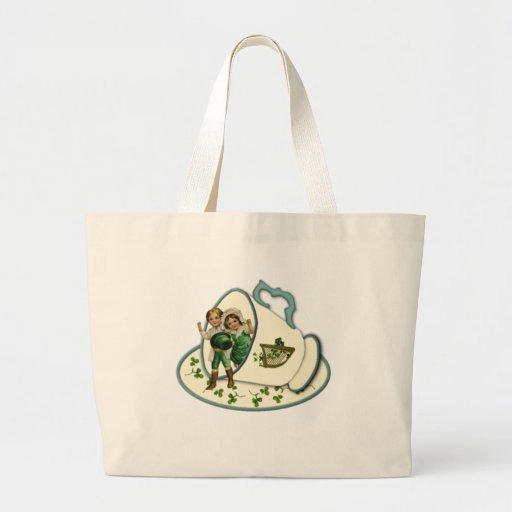 Irish Teacup Canvas Bag