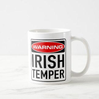 Irish Temper Funny Warning Road Sign Basic White Mug