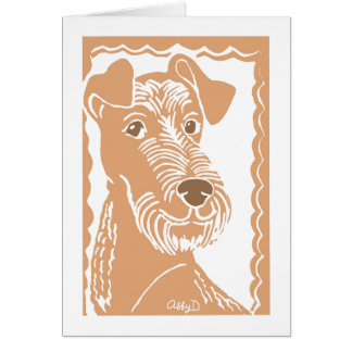 Irish Terrier Art Greeting Card
