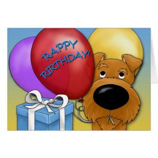 Irish Terrier Birthday Card