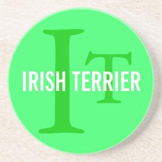 Irish Terrier Breed Monogram Drink Coasters