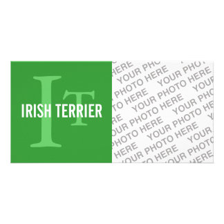 Irish Terrier Breed Monogram Photo Card Template