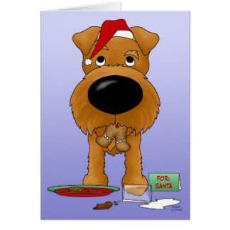 Irish Terrier Christmas Card