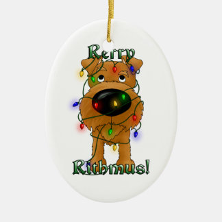 Irish Terrier - Christmas Lights Christmas Ornament