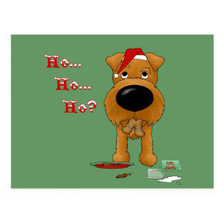 Irish Terrier Christmas Postcard