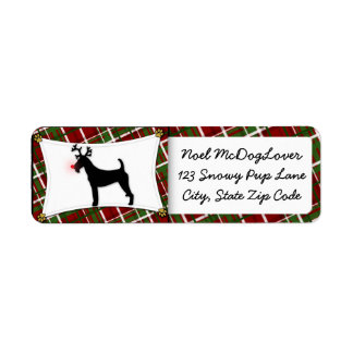 Irish Terrier Christmas Return Address Label