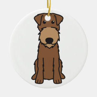 Irish Terrier Dog Cartoon Christmas Ornament