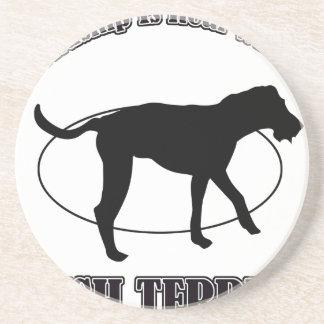 IRISH TERRIER DOG DESIGNS DRINK COASTER