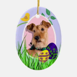 Irish Terrier Easter Ornament