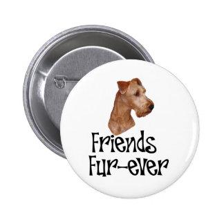 "Irish Terrier ""Friends Fur-ever"" Pin"