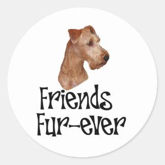 """Irish Terrier """"Friends Fur-ever"""" Sticker"""