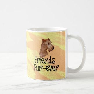 "Irish Terrier ""friends fur more ever "" Basic White Mug"
