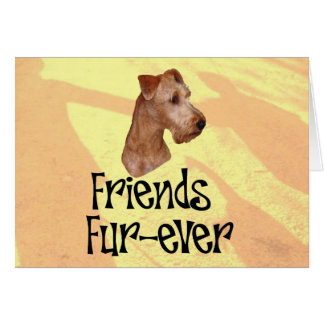 "Irish Terrier ""Friends fur more ever "" Greeting Card"