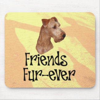 "Irish Terrier ""Friends fur more ever "" Mouse Pads"