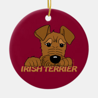 Irish Terrier head Cute Christmas Ornament
