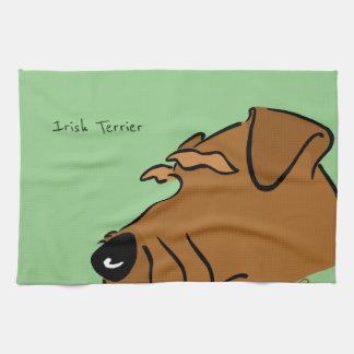 Irish Terrier head Tea Towel