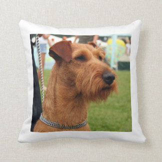 irish terrier.png throw pillow