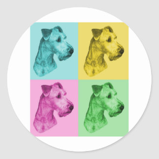 "Irish Terrier ""pop kind "" Round Sticker"