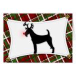 Irish Terrier Reindeer Christmas Card