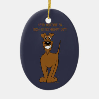 Irish Terrier Smile Christmas Ornament