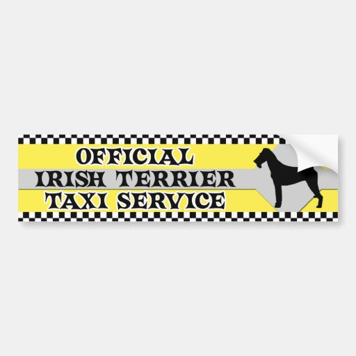 Irish Terrier Taxi Service Bumper Sticker