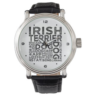 Irish Terrier Typography Watch