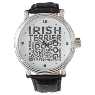 Irish Terrier Typography Wrist Watch