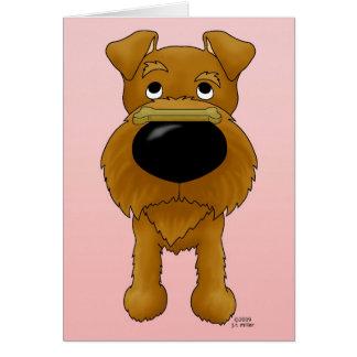 Irish Terrier Valentine Card