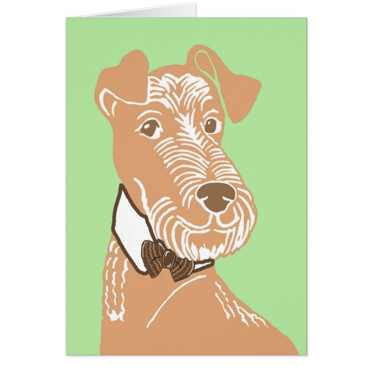 Irish Terrier Wearing a Bowtie Greeting Card