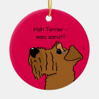 Irish Terrier - which otherwise? Christmas Ornament