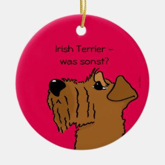 Irish Terrier - which otherwise? Round Ceramic Decoration