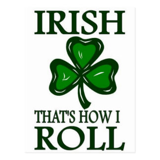 Irish That s How I roll Post Cards
