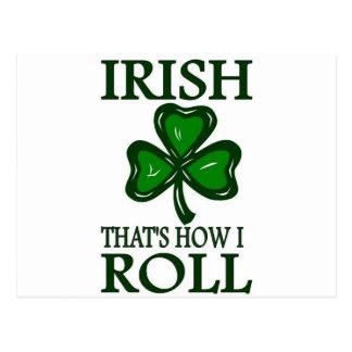 Irish That s How I roll Postcards