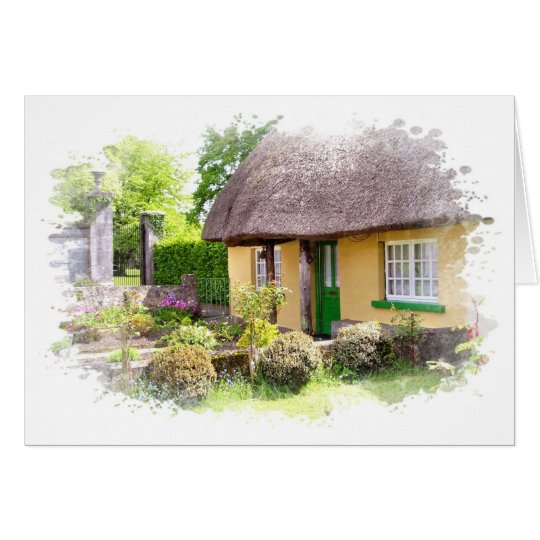 Irish Thatched Cottage Card