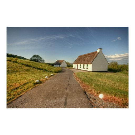 Irish Thatched Cottages Posters
