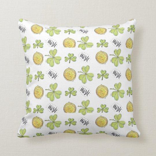 Irish-Themed Throw Pillow