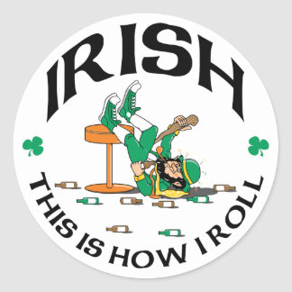 Irish This Is How I Roll Gift Stickers