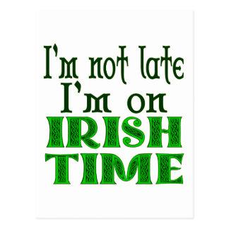 Irish Time Funny Saying Postcard