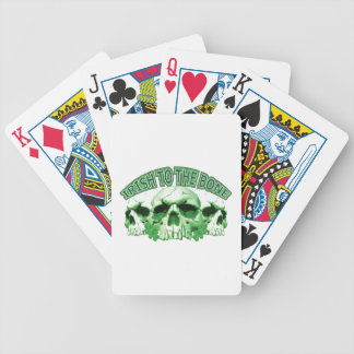 Irish to the Bone Skull Bicycle Playing Cards