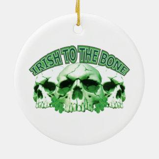 Irish to the Bone Skull Christmas Ornament