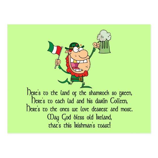 Irish Toast Postcard