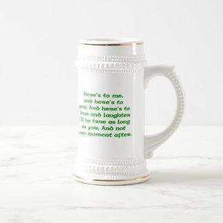 Irish Toast Stein Coffee Mug