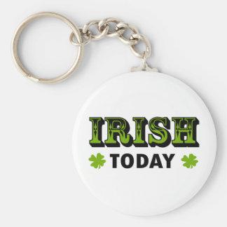 IRISH TODAY Cool Saint Patricks Design! Basic Round Button Key Ring