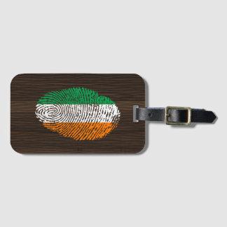 Irish touch fingerprint flag luggage tag