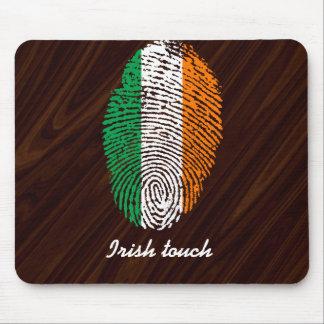 Irish touch fingerprint flag mouse pad